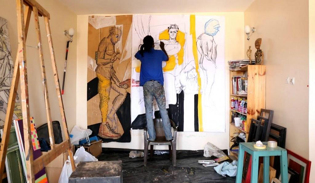Barkinado Bocoum in his studio