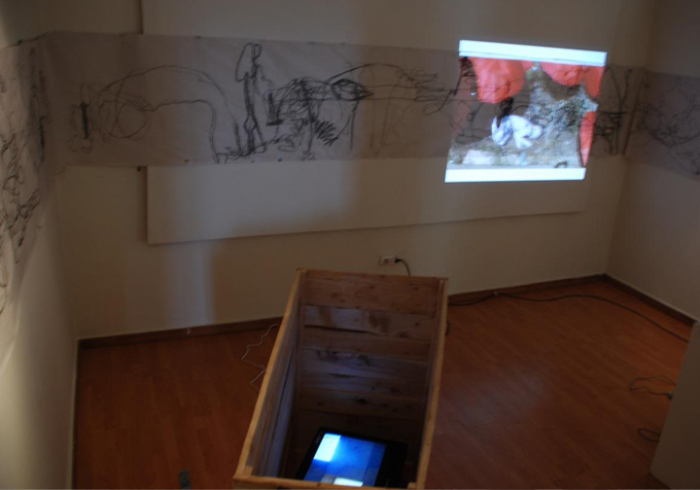 Helen Zeru 'Memory back and forth', 2011, Video Installation and Performance