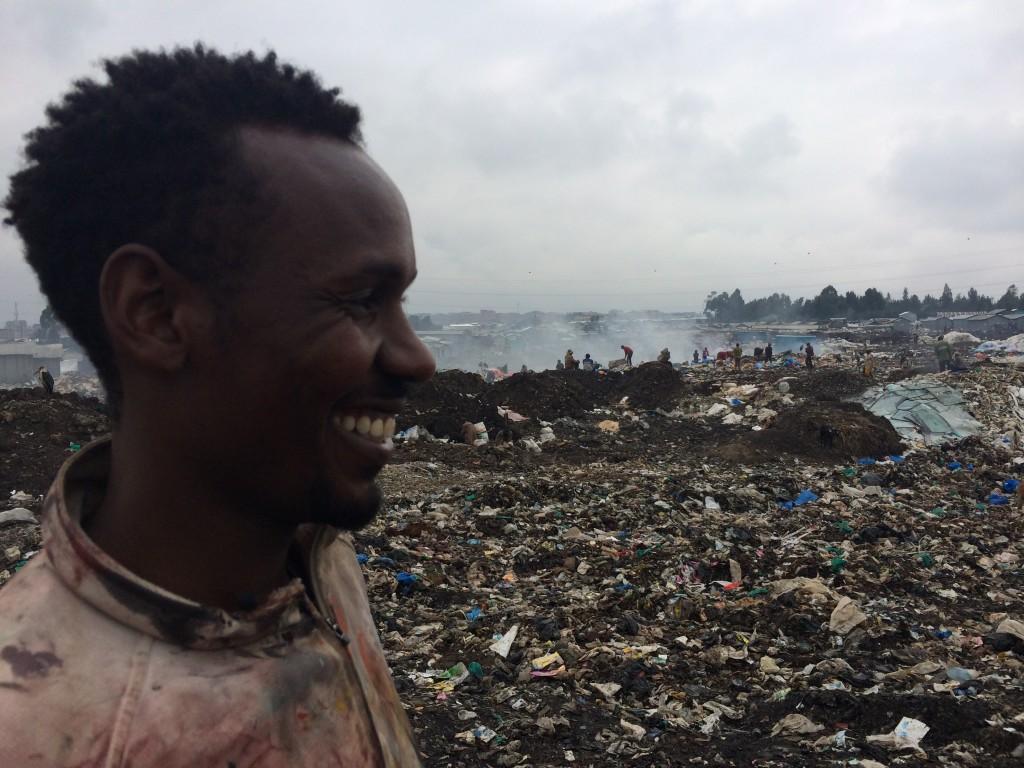 Shabu Mwangi at Lungalunga slum dumping site Nairobi
