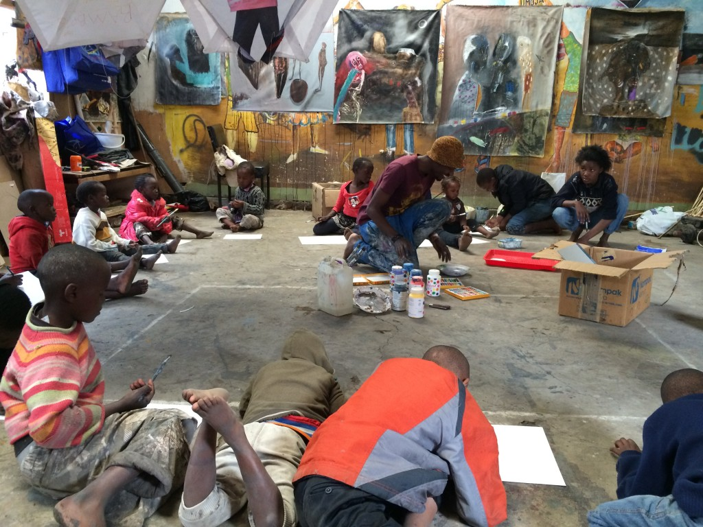 Shabu Mwangi's Kids Club at Wajukuu Art Centre