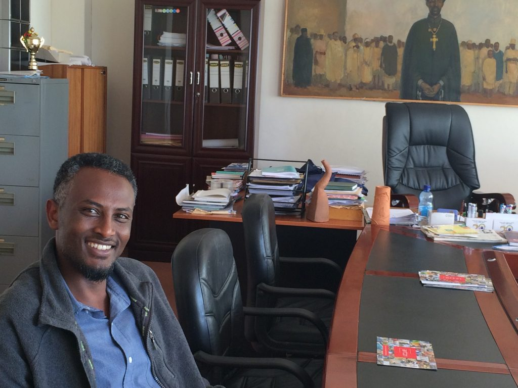 Art director of Addis Ababa University, Scool of Fine Arts and Design