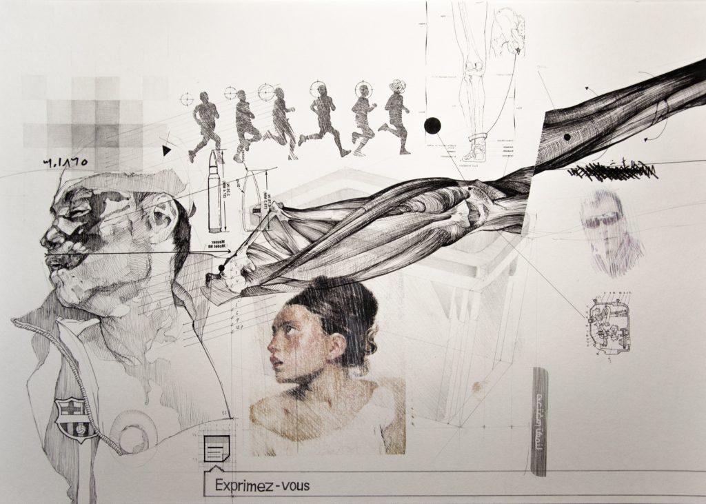 nidhal-chamekh-dessin-n8-encres-graphite-et-transfert-sur-papier-42-x-60-cm-2013